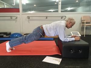 elfder adult planking in pilates